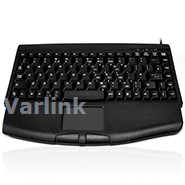 Ceratech Accuratus ACC540 Mini Keyboard [UK] with Touchpad / Black / USB Interface