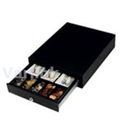 ICD SS-102 Cash Drawer / Black / Epson Interface / Epson Interface Cable / 5 coins/3 notes Insert (Coin tray lifts out) / 330mm x 415mm x 90mm