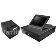 SBV Tablet POS Accessory Kit 4 (Black) - [Standard Cash Drawer / Wifi/Bluetooth Receipt Printer / Upright Tablet C-Frame] (3 Items)