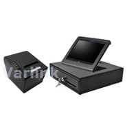 SBV Tablet POS Accessory Kit 3 (Black) - [Compact Cash Drawer / Wifi/Bluetooth Receipt Printer / Upright Tablet C-Frame] (3 Items)