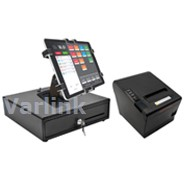 SBV Tablet POS Accessory Kit 1 (Black) - [Compact Cash Drawer / Wifi/Bluetooth Receipt Printer / Gripzo Secure Tablet Mount+Fixings] (4 Items)