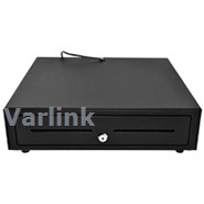 SBV-41x41 Standard Cash Drawer / Black / RJ11 Interface [24V]+Micro Switch / 4 note/8 coin / 2 Media Slots / 410mm x 410mm x 100mm